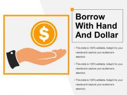 Borrow With Hand And Dollar