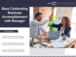 Boss Celebrating Business Accomplishment With Manager