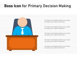 Boss Icon For Primary Decision Making