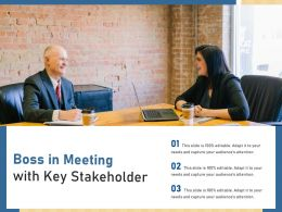 Boss In Meeting With Key Stakeholder
