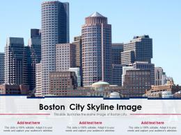 Boston City Skyline Image Powerpoint Presentation Ppt Template