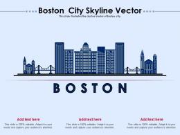 Boston City Skyline Vector Powerpoint Presentation Ppt Template
