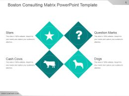 Boston Consulting Matrix Powerpoint Template