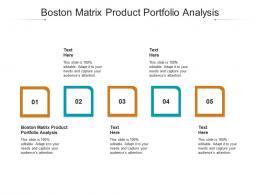 Boston Matrix Product Portfolio Analysis Ppt Powerpoint Presentation Icon Deck Cpb