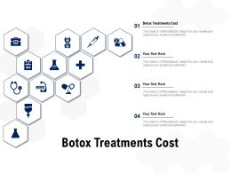 Botox Treatments Cost Ppt Powerpoint Presentation Pictures Template