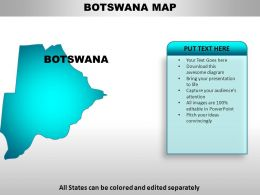Botswana Country Powerpoint Maps