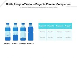 Bottle Image Of Various Projects Percent Completion