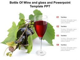 Bottle Of Wine And Glass And Powerpoint Template Ppt