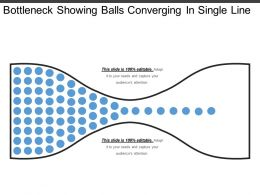 Bottleneck Showing Balls Converging In Single Line