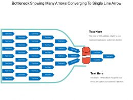 Bottleneck Showing Many Arrows Converging To Single Line Arrow