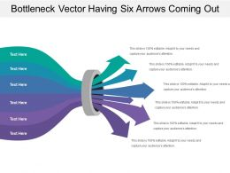 Bottleneck Vector Having Six Arrows Coming Out