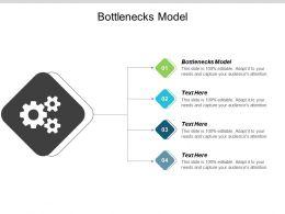 Bottlenecks Model Ppt Powerpoint Presentation File Infographics Cpb