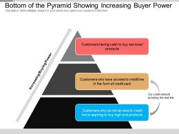 Bottom Of The Pyramid Showing Increasing Buyer Power