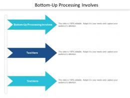 Bottom Up Processing Involves Ppt Powerpoint Presentation Icon Gridlines Cpb