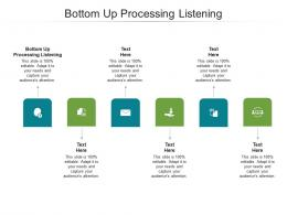 Bottom Up Processing Listening Ppt Powerpoint Presentation File Aids Cpb