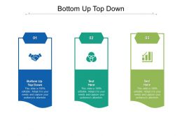 Bottom Up Top Down Ppt Powerpoint Presentation Summary Icons Cpb