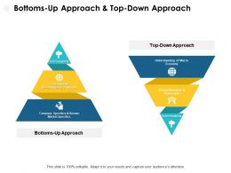 Bottoms Up Approach And Top Down Approach Addressability Ppt Powerpoint Presentation Slides