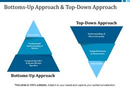 Bottoms Up Approach And Top Down Approach Ppt Professional Designs