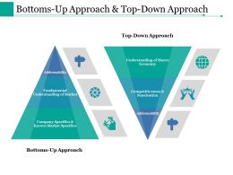 Bottoms Up Approach And Top Down Approach Ppt Styles Examples