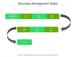 Boundary Management Styles Ppt Powerpoint Presentation Sample Cpb