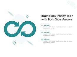 Boundless Infinity Icon With Both Side Arrows