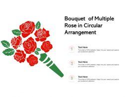 Bouquet Of Multiple Rose In Circular Arrangement
