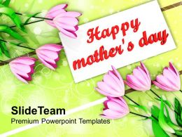 Bouquet Of Tulips On Mothers Day PowerPoint Templates PPT Themes And Graphics 0513