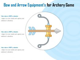 Bow And Arrow Equipments For Archery Game