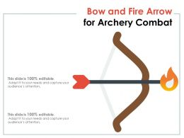 Bow And Fire Arrow For Archery Combat