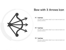 Bow With 3 Arrows Icon