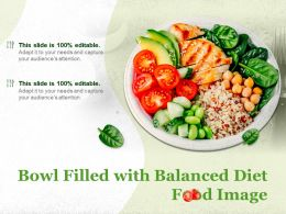 Bowl Filled With Balanced Diet Food Image