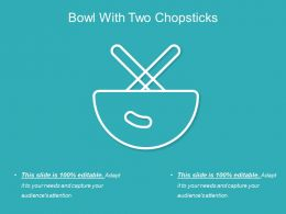 Bowl With Two Chopsticks