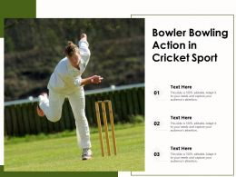 Bowler Bowling Action In Cricket Sport
