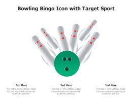 Bowling Bingo Icon With Target Sport