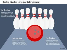 Bowling Pins For Game And Entertainment Flat Powerpoint Design
