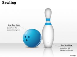 Bowling Powerpoint Template Slide