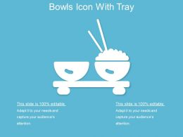 Bowls Icon With Tray