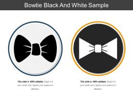 Bowtie Black And White Sample