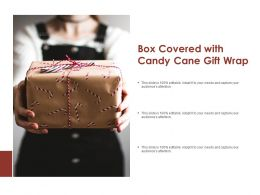 Box Covered With Candy Cane Gift Wrap