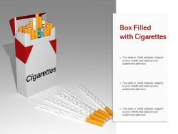 Box Filled With Cigarettes