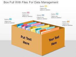 Box Full With Files For Data Management Flat Powerpoint Design