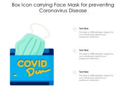 Box Icon Carrying Face Mask For Preventing Coronavirus Disease