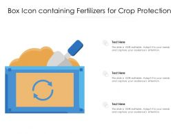 Box Icon Containing Fertilizers For Crop Protection