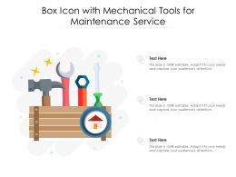 Box Icon With Mechanical Tools For Maintenance Service