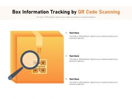 Box Information Tracking By QR Code Scanning