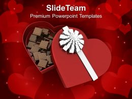 Box Of Heart With Chocolates PowerPoint Templates PPT Themes And Graphics 0213