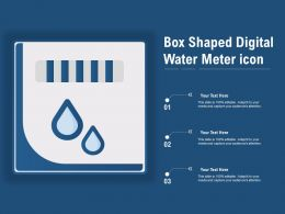 Box Shaped Digital Water Meter Icon