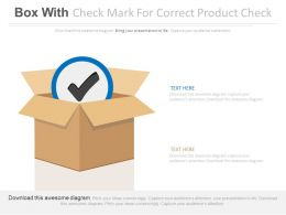 Box With Check Mark For Correct Product Check Flat Powerpoint Design