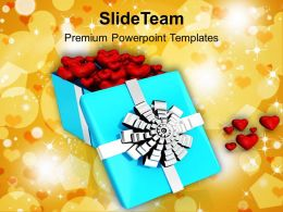 Box With Red Hearts Love PowerPoint Templates PPT Themes And Graphics 0213