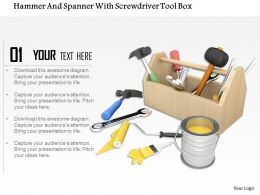 Box With Repair Tools And Bucket Of Paint